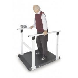 Plateforme de pesée pour chaise roulante MWS Kern avec barre de retenue