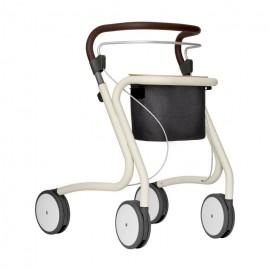Déambulateur rollator avec sac et plateau