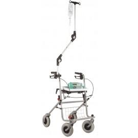 Porte sérum universel pour rollator ou fauteuil roulant
