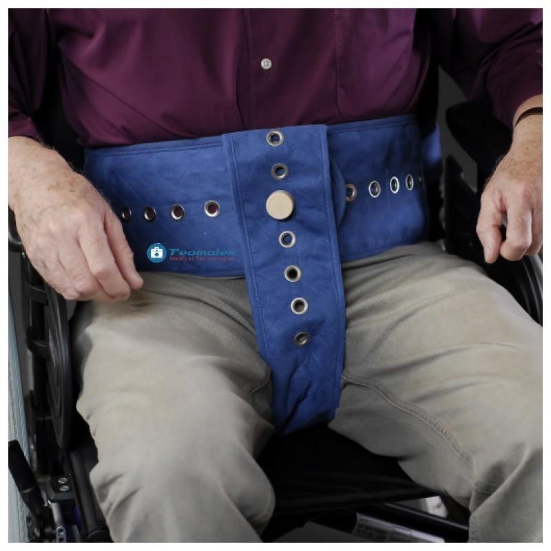 Ceinture sécurisée + pelvien intégré au fauteuil