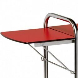 Tablette rabattable pour chariot 600x400mm en résine