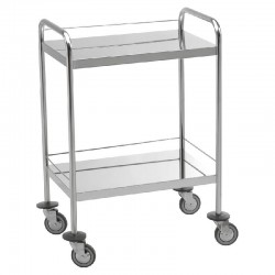 Chariot inox 2 plateaux...
