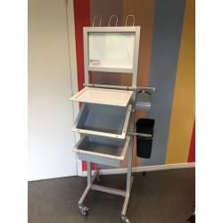 Chariot modulaire d'hygiène complet alu