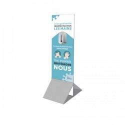 Totem distributeur de gel hydroalcoolique