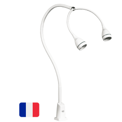 Lampe d'examen LID LED bi tête Hydra 8.4W