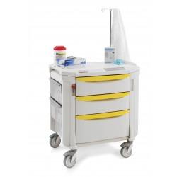 Chariot de soins Flexline Metro 3 tiroirs