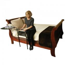 Appui de lit avec plateau pivotant