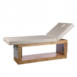 Table spa en bois naturel Elsa