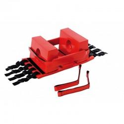 Immobilisateur de tête pour civière et plan dur rouge