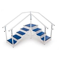 Escalier de rééducation avec angle modulable