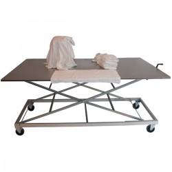 Table inox tri du linge ergonomique hauteur réglable