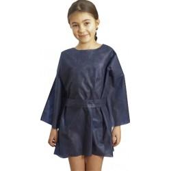 Chemise d'opéré - enfant - bleu nuit opaque