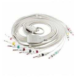 Edan câble patient 10 fils à fiche banane pour ECG SE1010