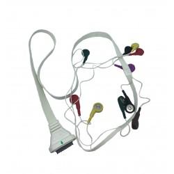 Edan câble patient ECG pour électrodes à UU DX12