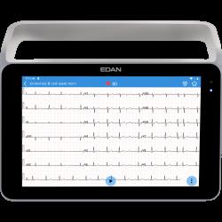 Edan ECG ISE sur tablette tactile avec poignée