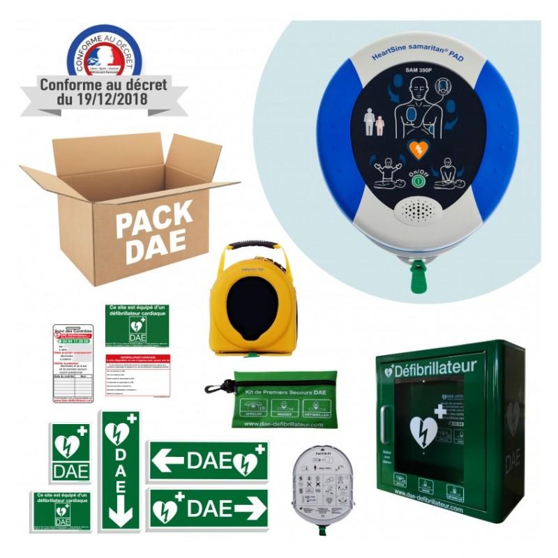 Pack défibrillateur Heartsine Samaritan Pad 350P ou 360P Boitier intérieur