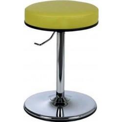 Tabouret bas sur socle avec assise pivotante