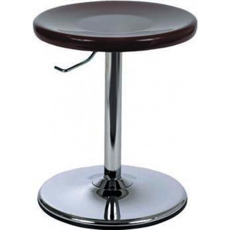 Tabouret réglable sur socle avec assise acier