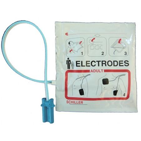 Electrodes collables adulte pré-connectées pour FRED Easy Schiller