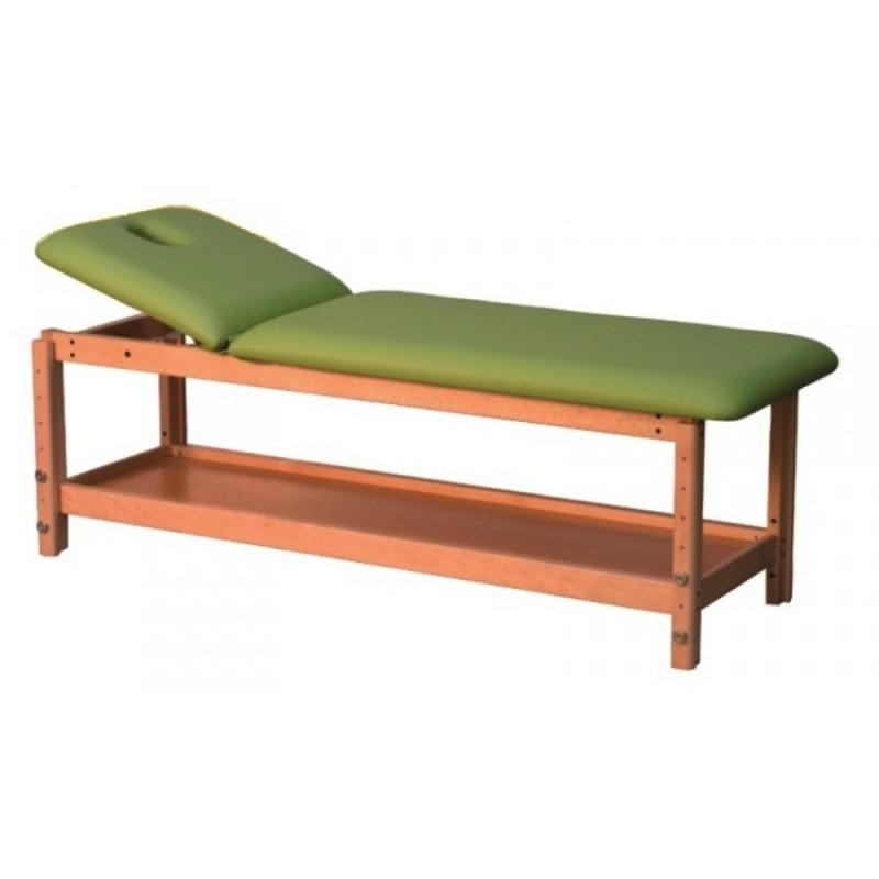 table de massage fixe en bois avec dossier relevable. Black Bedroom Furniture Sets. Home Design Ideas
