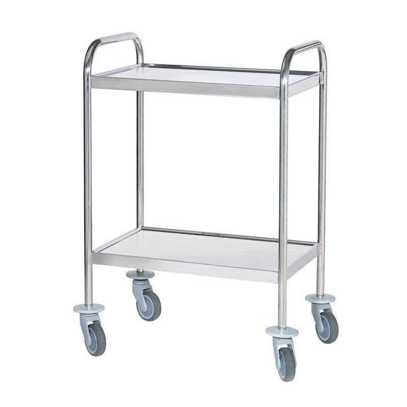 GUERIDON INOX 4 BORDS RELEVES AVEC  POIGNEES