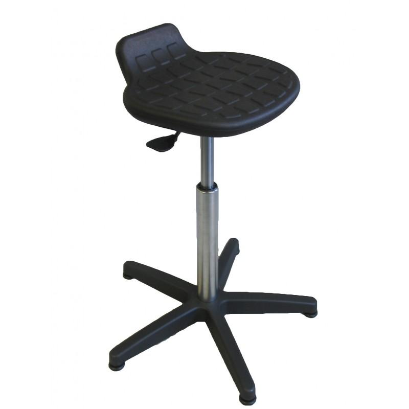 tabouret assis debout avec inclinaison variable. Black Bedroom Furniture Sets. Home Design Ideas