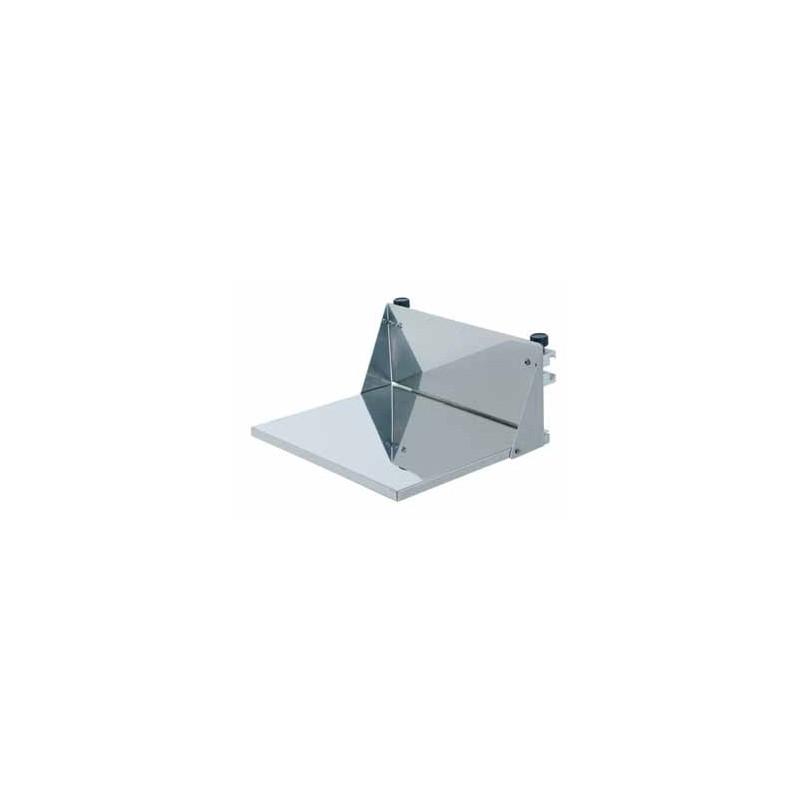 tablette pour rail en inox. Black Bedroom Furniture Sets. Home Design Ideas
