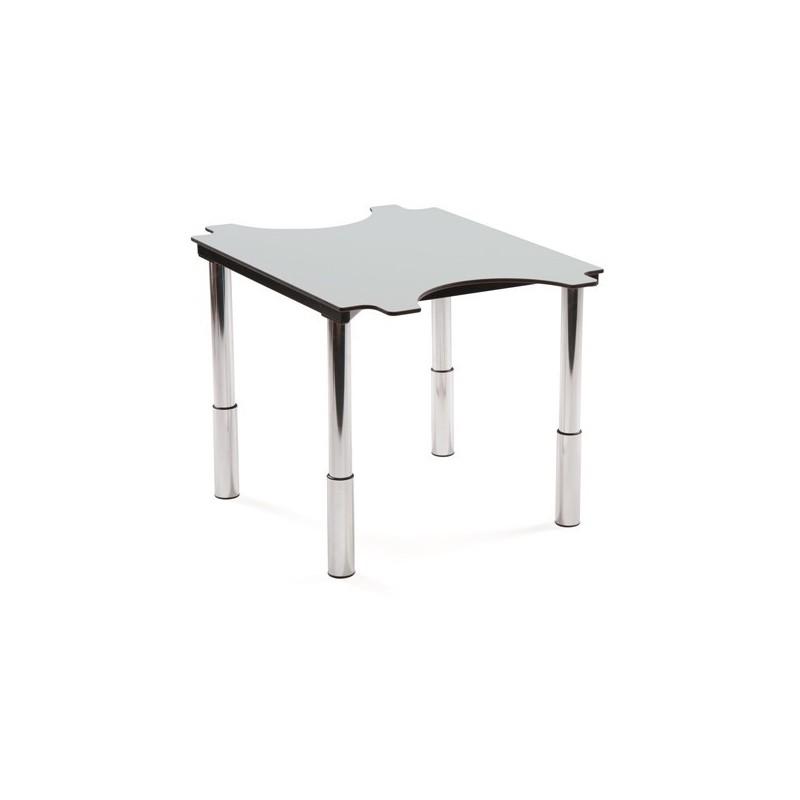 table ergo 2 places hauteur variable. Black Bedroom Furniture Sets. Home Design Ideas