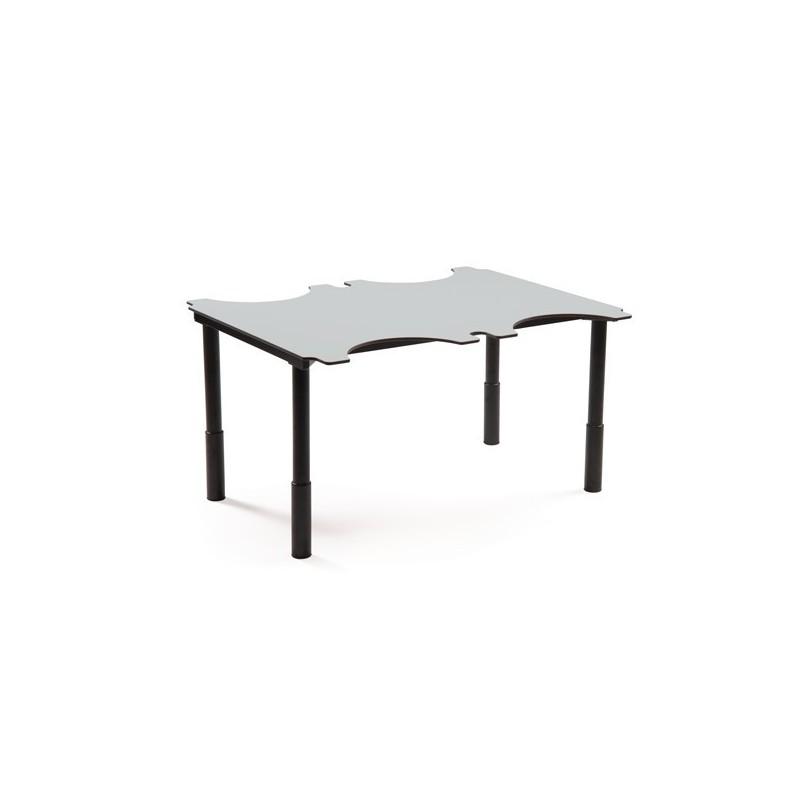 table ergo hauteur variable 4 places. Black Bedroom Furniture Sets. Home Design Ideas